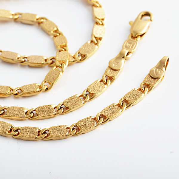 fashion jewelry mens solid gold filled necklace 450 4mm