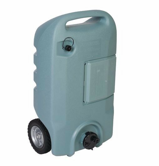 Portable Rv Tanks : Rv portable waste tote gallon with wheels gray sewer