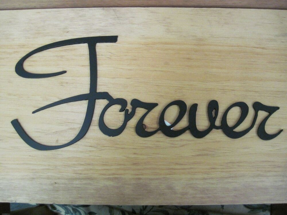 Forever-Black Wrought Iron Wall Art Metal Home Decor