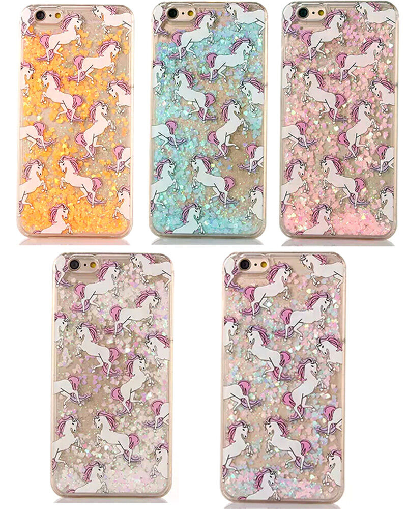 iphone 6 phone cases dynamic glitter liquid paillette unicorn phone cover 15013