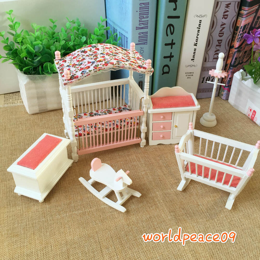 6pcs set dollhouse miniature kids baby room furniture for Toddler mini chair