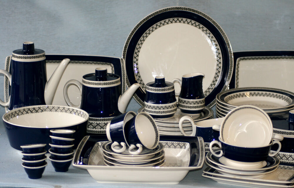 villeroy boch 39 saphir 39 tea dinner service made in germany saar ebay. Black Bedroom Furniture Sets. Home Design Ideas