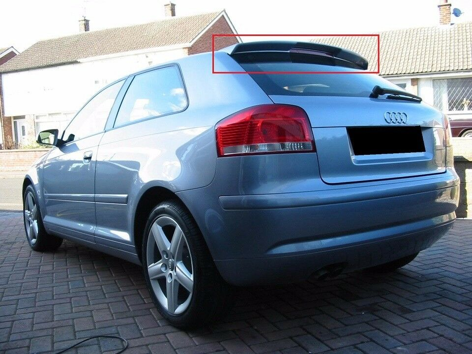 audi a3 8p 2003 2013 3d 3 doors rear roof spoiler new s. Black Bedroom Furniture Sets. Home Design Ideas