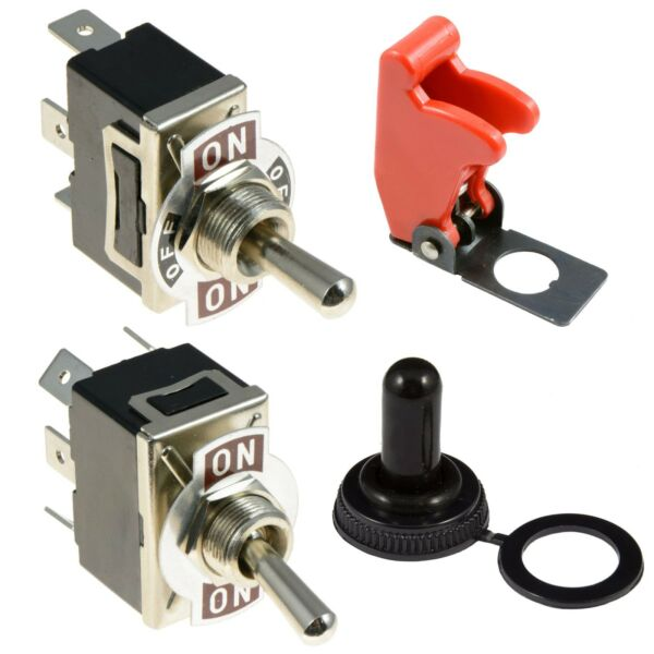 Standard Flick Toggle Switch + Cover 10A SPST SPDT DPST DPDT