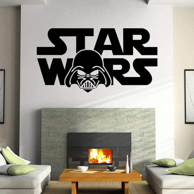 Removable star wars wall sticker vinyl home decor boys for Boys room mural