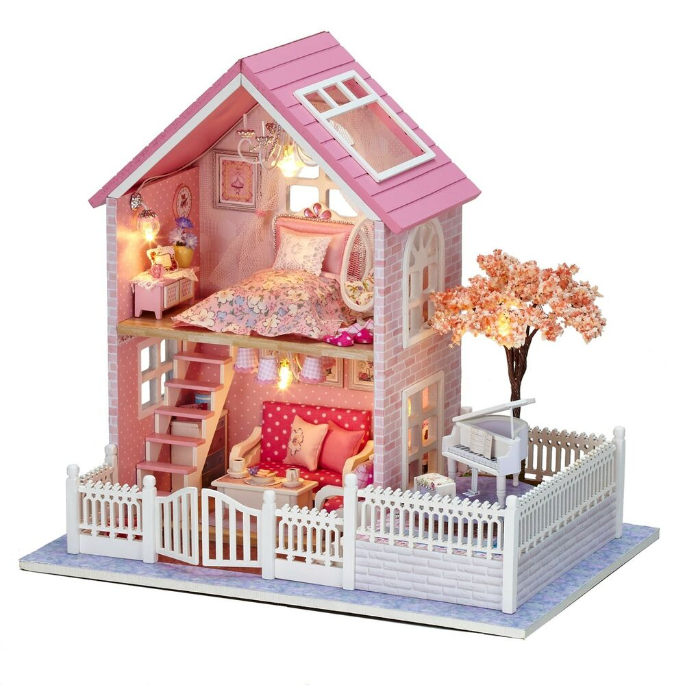 New Dollhouse Miniature DIY Kit Dolls House With Furniture