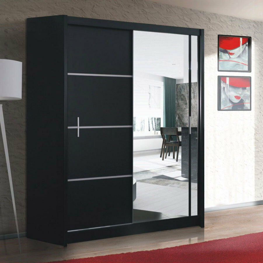 spiegel kleiderschrank mit schiebet ren. Black Bedroom Furniture Sets. Home Design Ideas