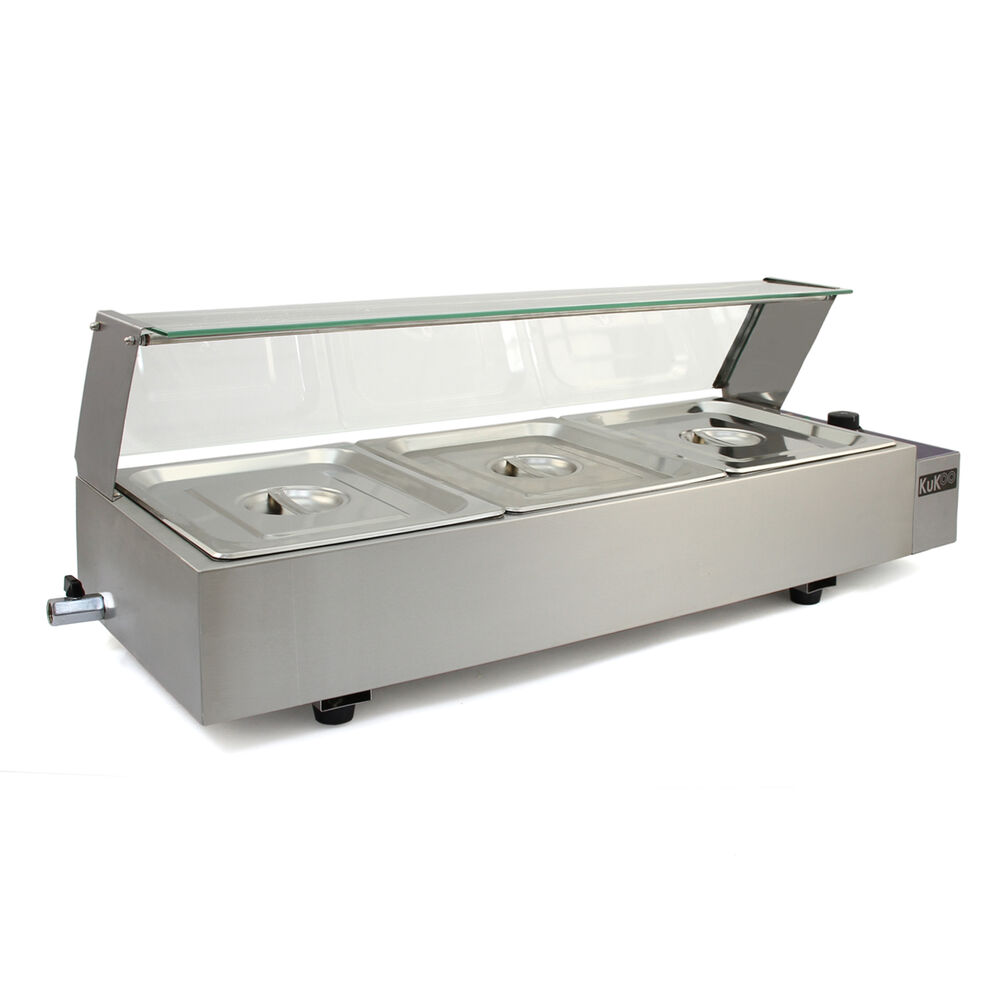 3 Pan Wet Well Bain Marie Stainless Steel 1 2 Gastronorm
