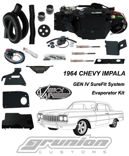 Vintage Air 1964 Chevy Impala W  Factory Ac Air Conditioning Evaporator Kit