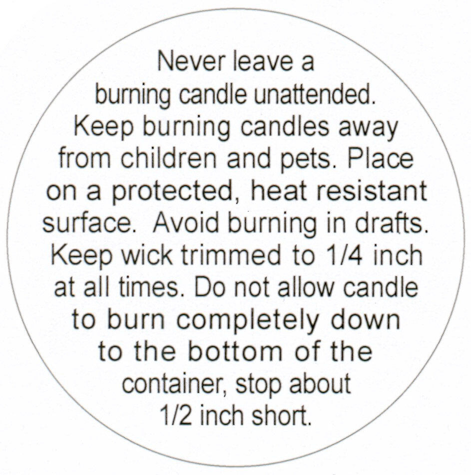 Eloquent image inside free printable candle warning labels