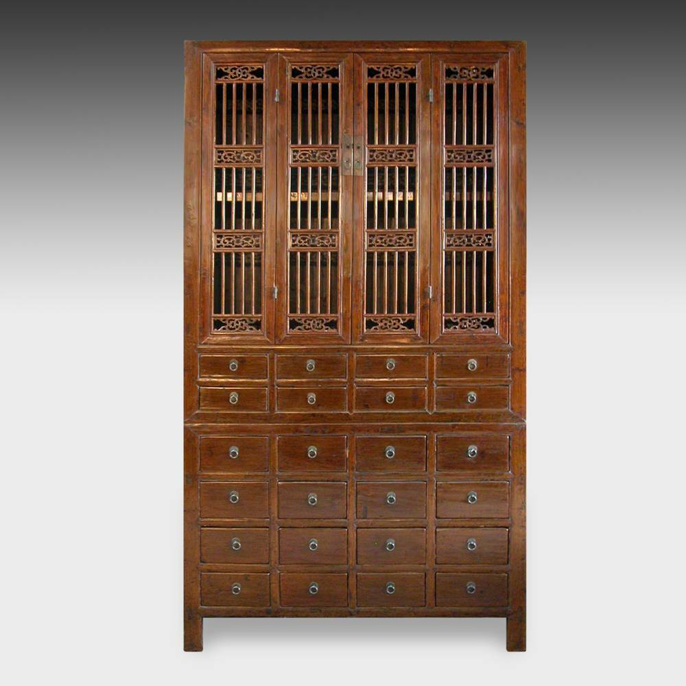 Fine Antique Chinese Elm Wood Compound Cabinet Furniture China 19th C Ebay