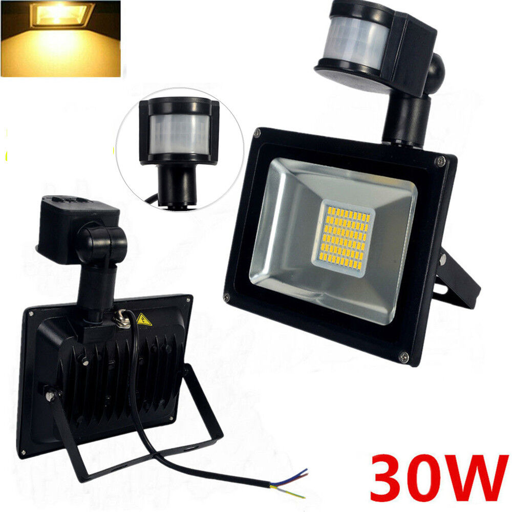 30w smd led security floodlight with pir motion sensor. Black Bedroom Furniture Sets. Home Design Ideas