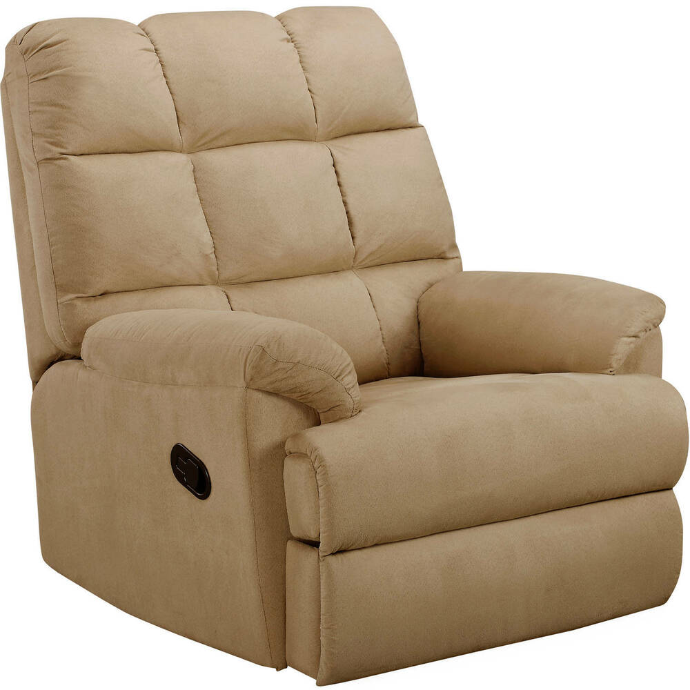 Recliner sofa chair microsuede rocking living room for Microsuede living room furniture