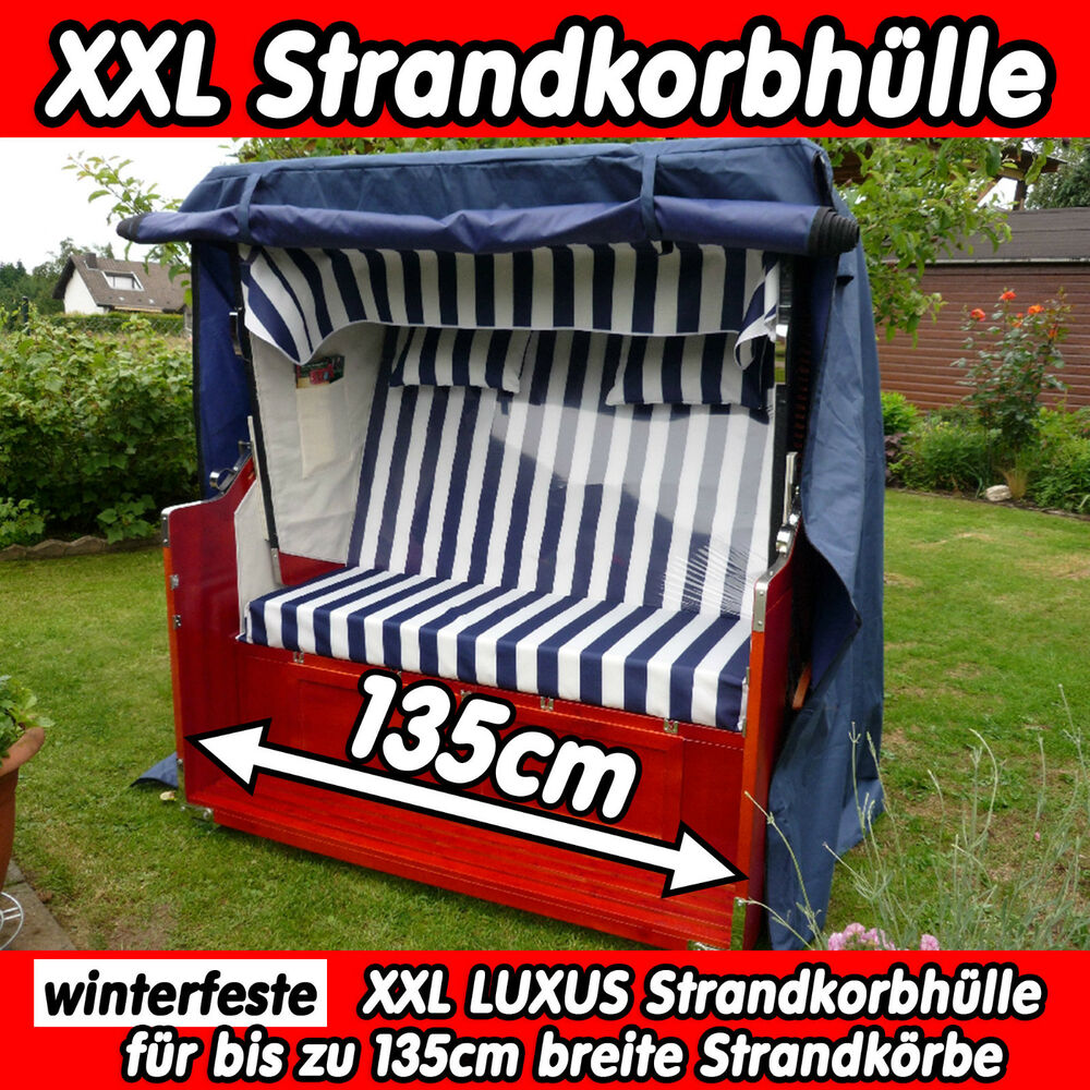 winterfeste strandkorbh lle strandkorb haube abdeckung plane schutzh lle 135cm ebay. Black Bedroom Furniture Sets. Home Design Ideas