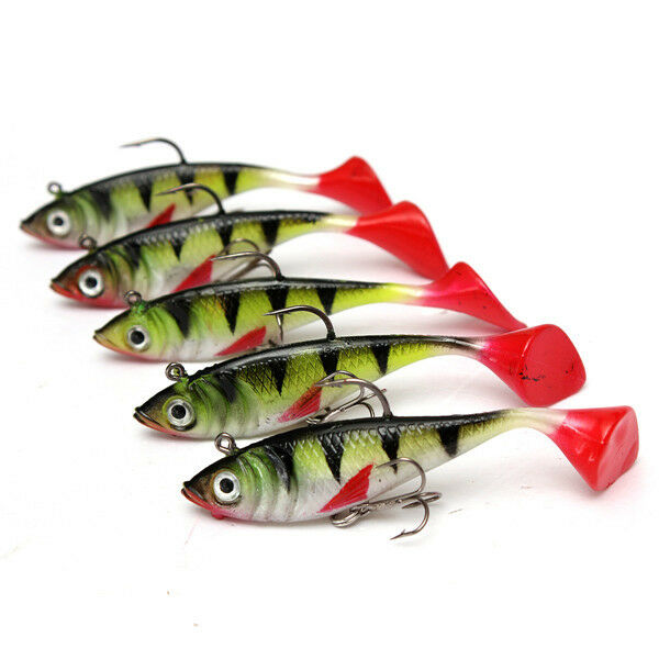 10pcs lot soft lead minnow fishing lure tackle rubber for Fishing lures ebay