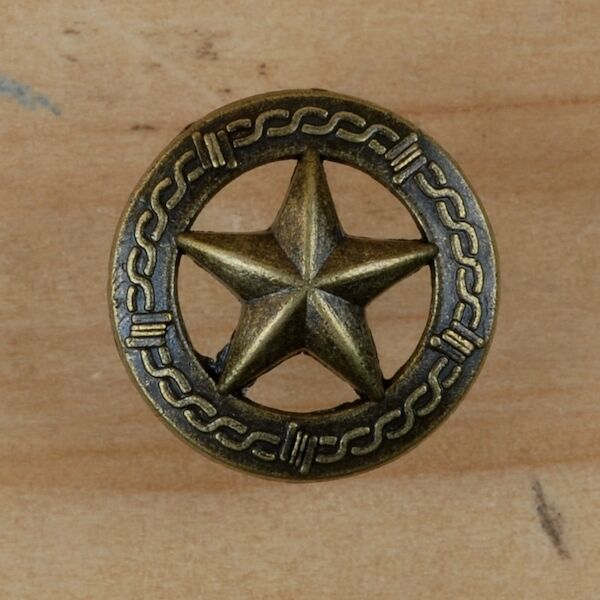 texas star  barb wire tack   brass decorative upholstery