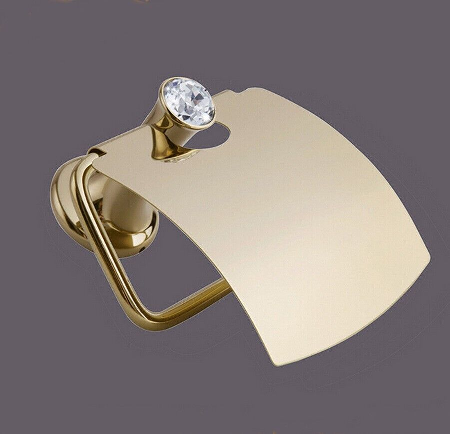 Alloy wall mounted towel rack gold toilet paper holder bathroom 121 ebay - Gold toilet paper holder stand ...