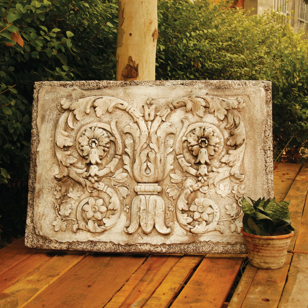 Ancient architectural tanzarian scrolls wall art sculpture for Architectural wall decor