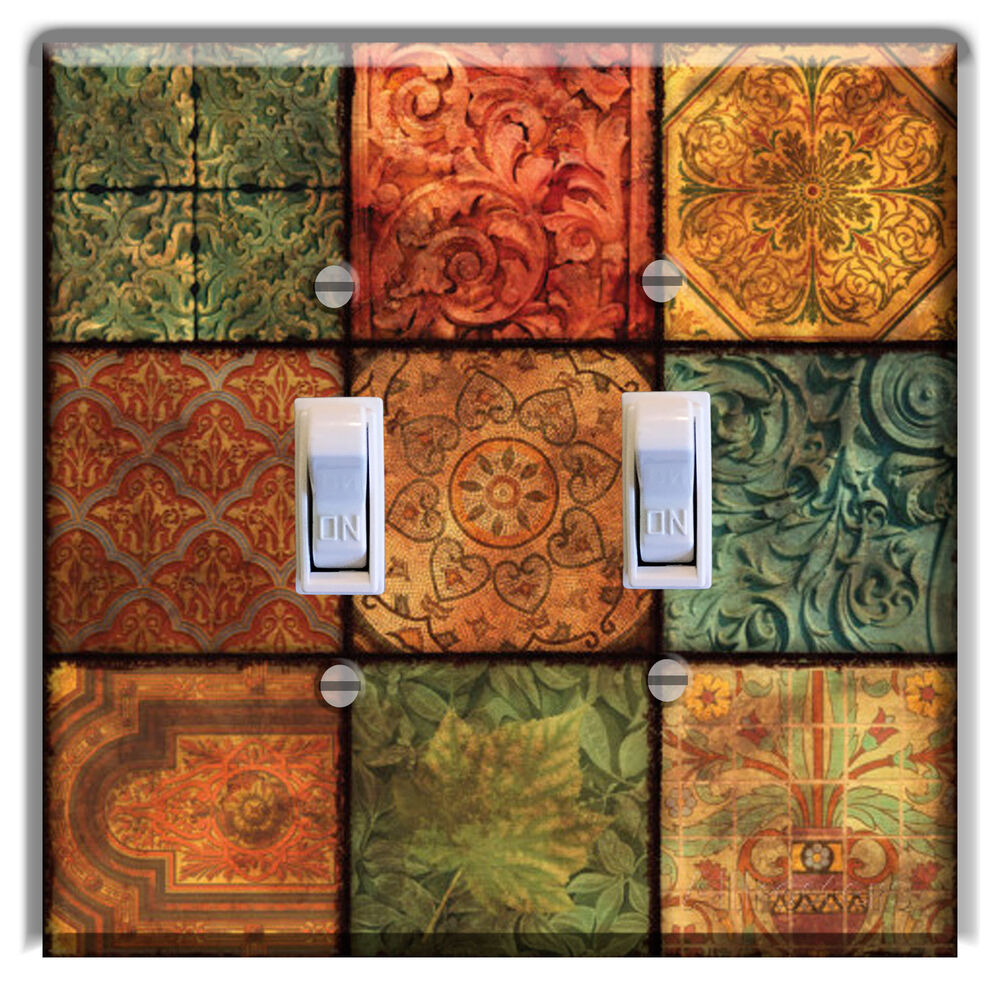 Tile Tucany Mosiac Light Switch Plate Cover Kitchen Home