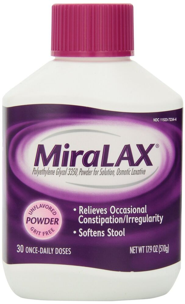 30 Doses Miralax Laxative Unflavored Powder Grit Free