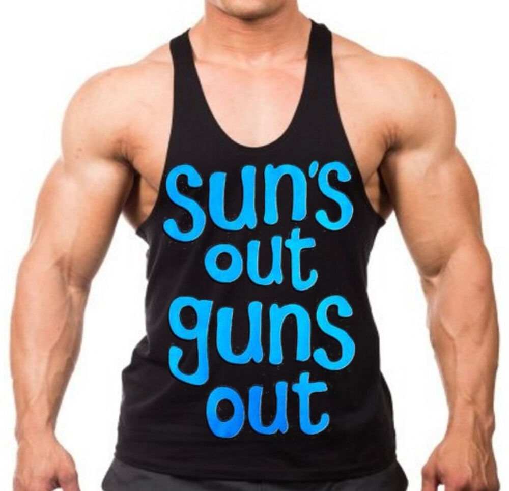 Men 39 S Suns Out Guns Out Stringer Muscle Workout Gym Mma