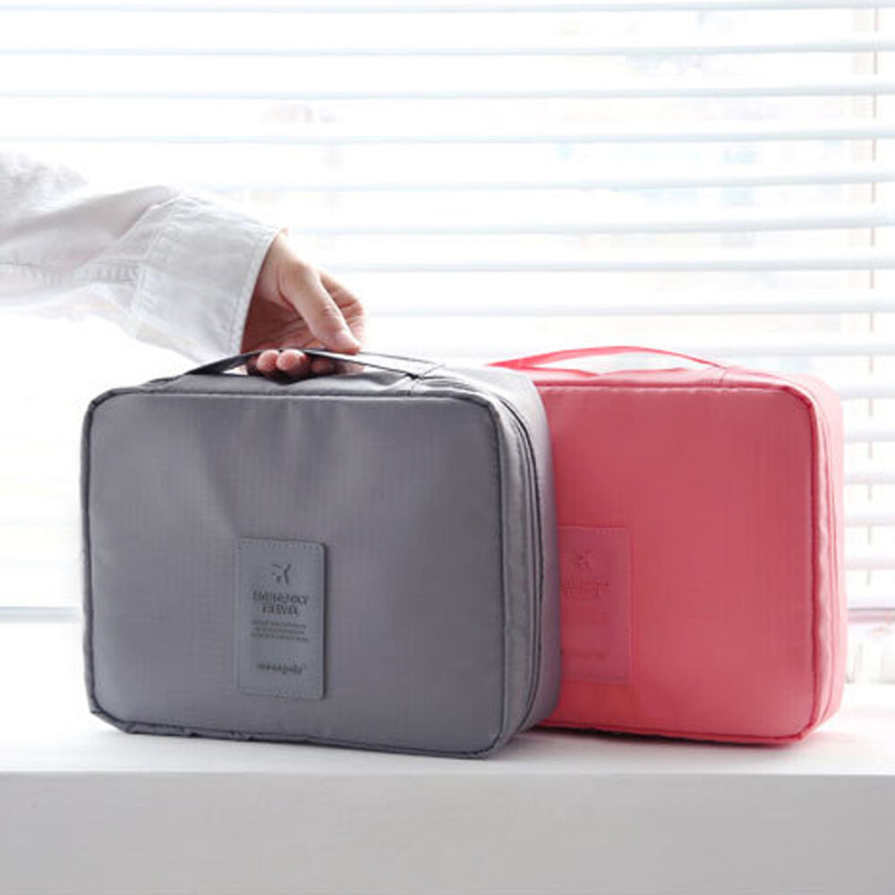 Travel Makeup Cosmetic Toiletry Case Wash Organizer