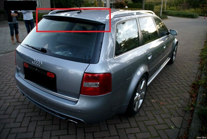 audi a6 c5 avant estate rear roof spoiler new ebay. Black Bedroom Furniture Sets. Home Design Ideas