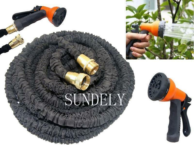 3x Expanding Garden Hose Pipe Expandable Copper Heavy Duty Gun 75 100 150 200 Ft Ebay
