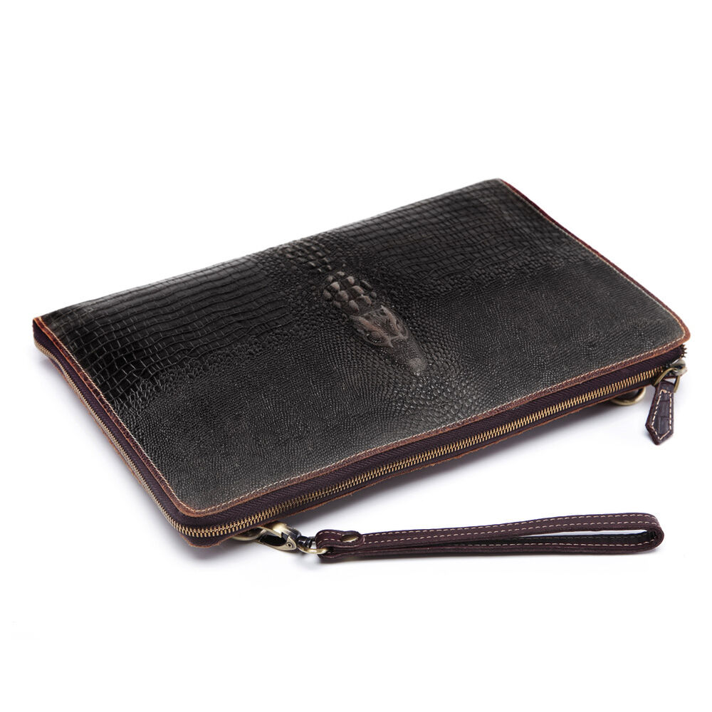 men leather under arm meeting folio a4 document holder zip With mens leather document folder