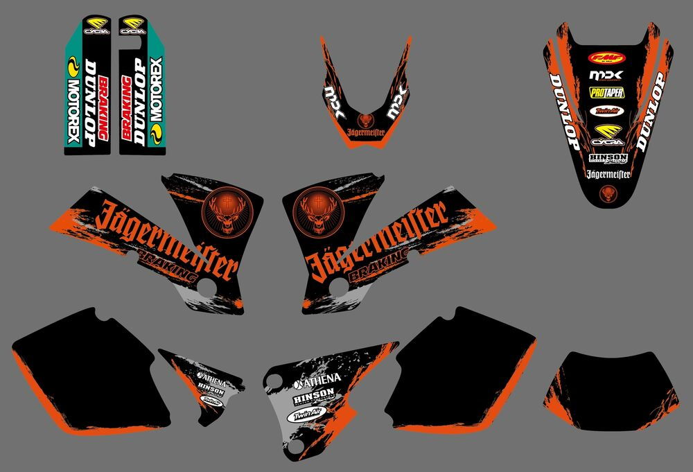 Team Graphics Backgrounds Decals For Ktm Exc 125 200 250