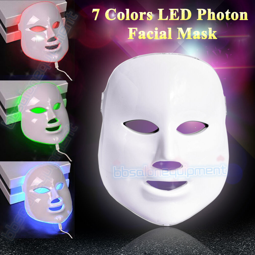 7 Colors Photon Led Light Therapy Facial Mask Skin