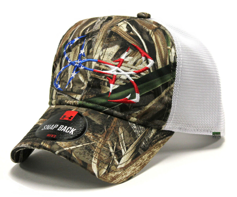 Under armour ua fish hook logo ridge reaper hydro camo for American flag fish hat