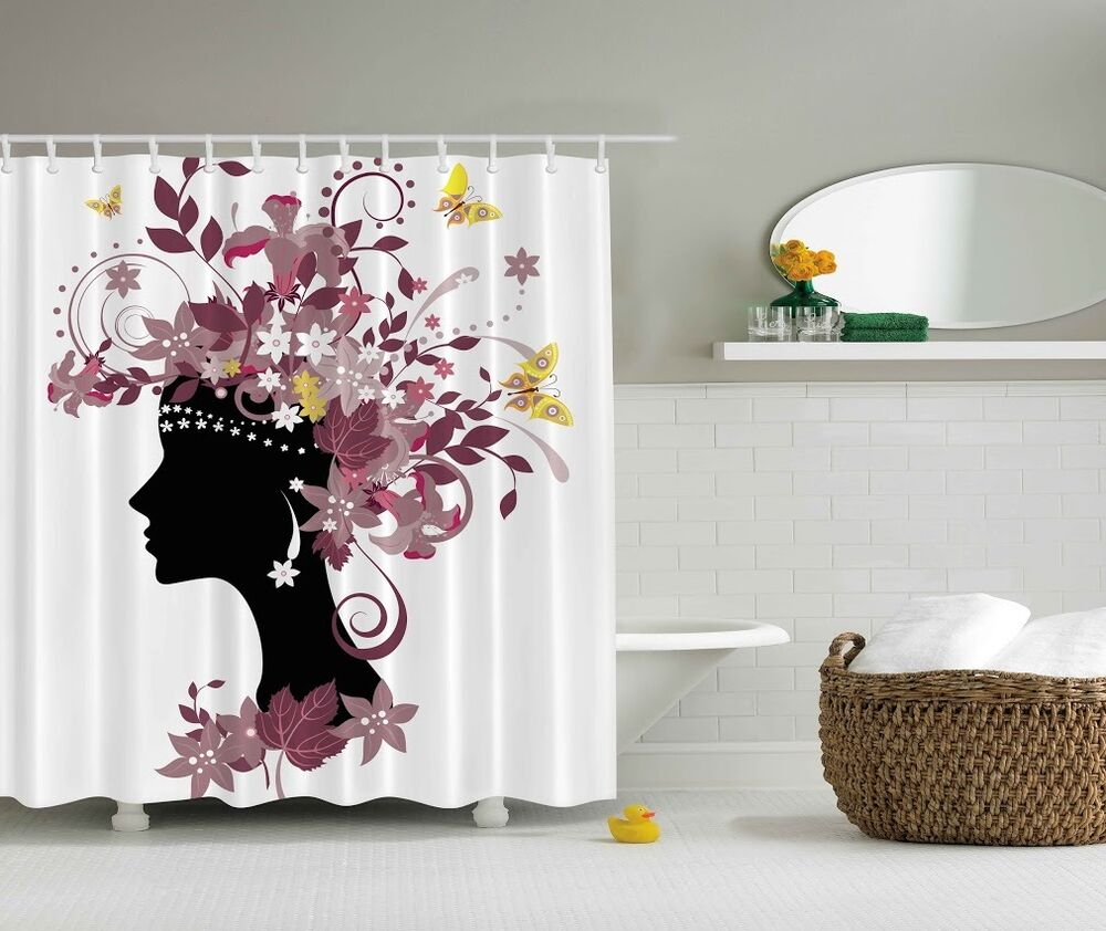 Spring Butterflies Digital Print Shower Curtain African