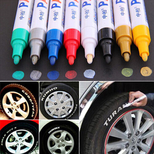 universal tyre permanent marker pen paint waterproof wheel rubber tire tread ebay. Black Bedroom Furniture Sets. Home Design Ideas