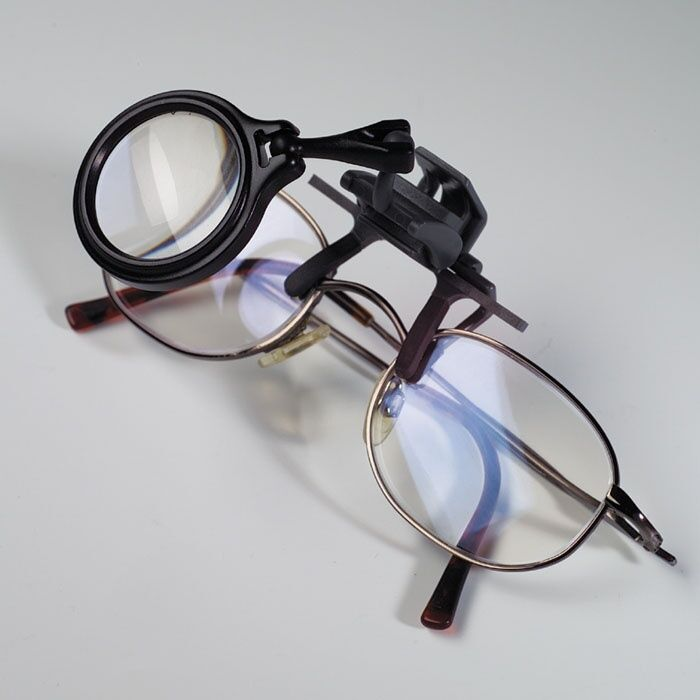 lighthouse clip on magnifier for glasses 5x magnification