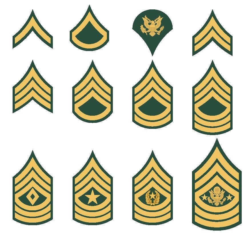 U.S. Army Rank Insignia Private Sergeant Specialist