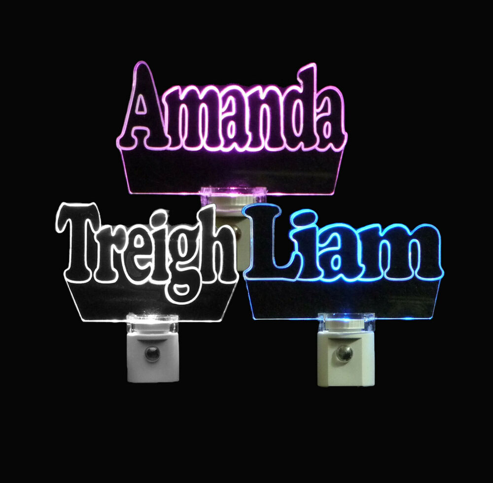 Personalized Led Name Night Light Lamp Kids 3 8