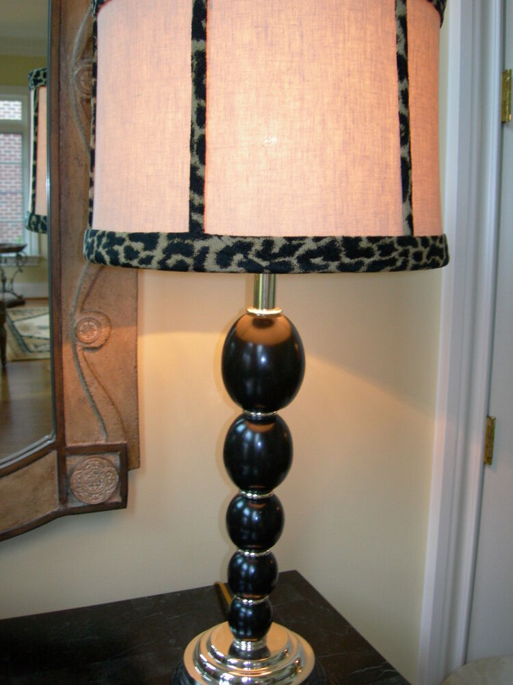 Maitland Smith Black Spheres Silver Plated Brass Table