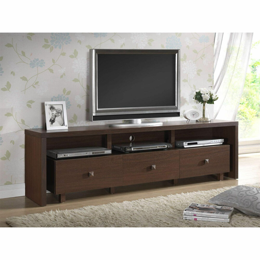 Modern tv stand entertainment media center home theater console wood furniture ebay Home furniture tv stands