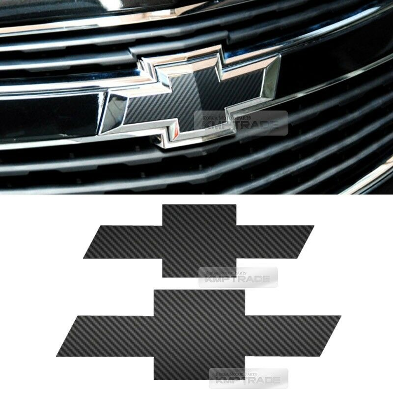 Front Rear Black Carbon Emblem Badge Decal Sticker For