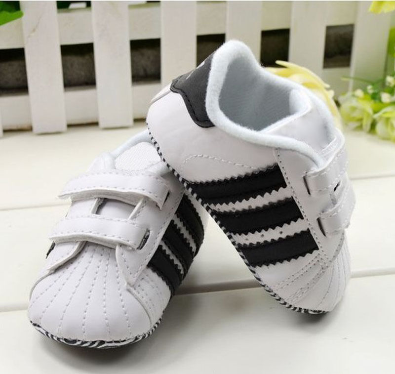 Toddler Baby Boy Girl White Soft Sole Crib Shoes Infant