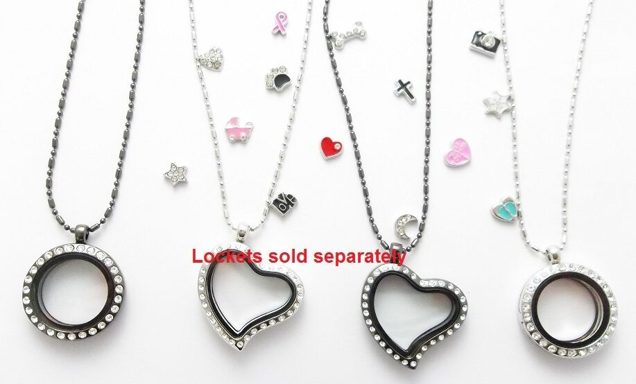 5pc wholesale lot of floating charms for glass memory