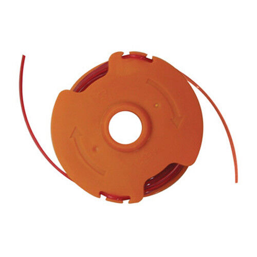 how to put trimmer line on spool