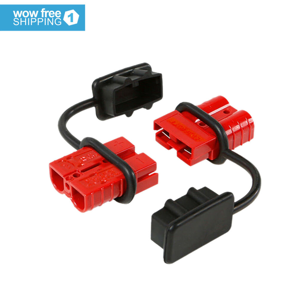 50a quick connector winch trailer battery connect ... trailer battery wiring harness camper trailer battery wiring diagram #2