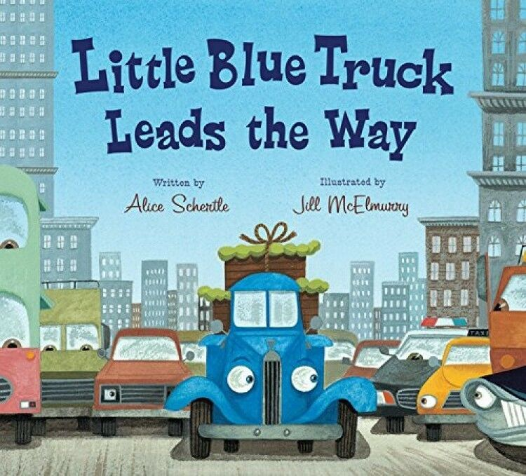 Little Blue Truck Leads The Way Board Book, New, Free