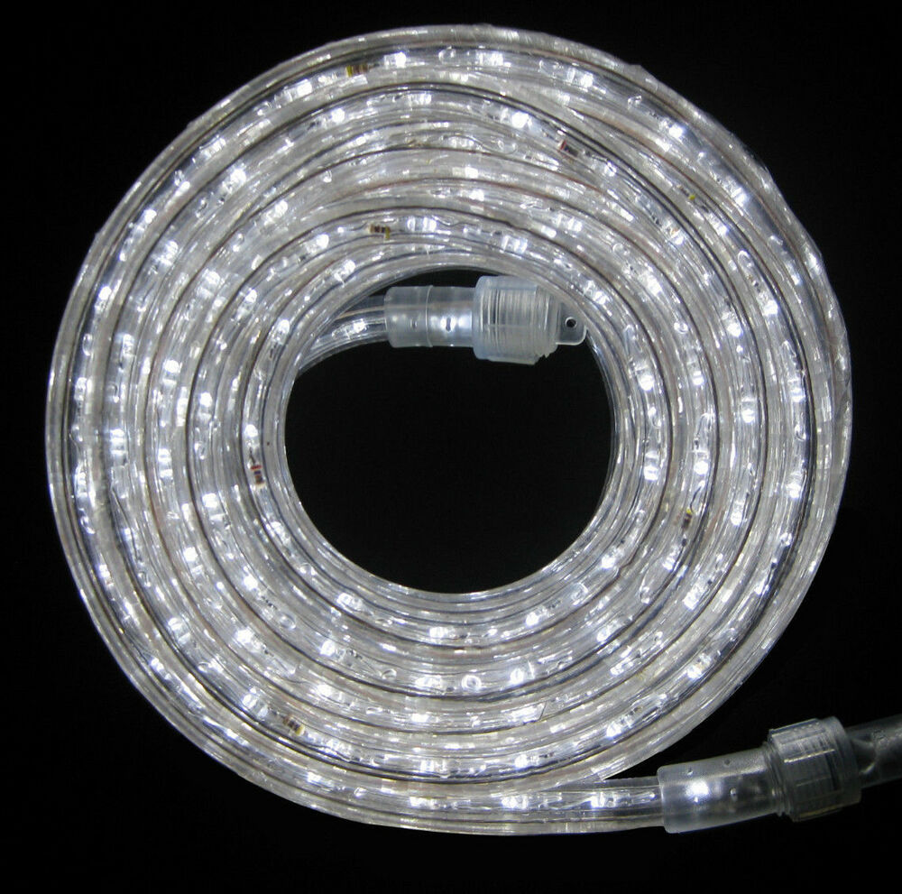 LED Rope Light 9Ft 110V 120V 2 Wire 1 2 White Outdoor Decoration Buildi