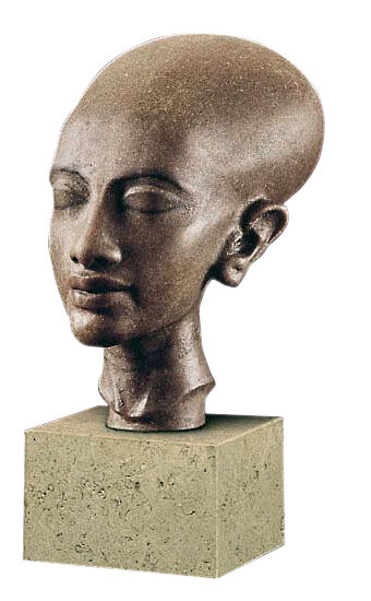 Egyptian princess of amarna head sculpture ancient