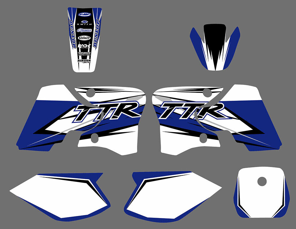 Team graphics decals sticker fit yamaha ttr90 2000 01 02 for Yamaha replacement decals