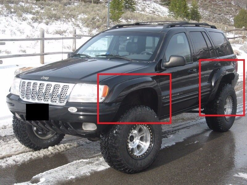 jeep grand cherokee wj 1999 2004 wheel arch fender flares. Cars Review. Best American Auto & Cars Review