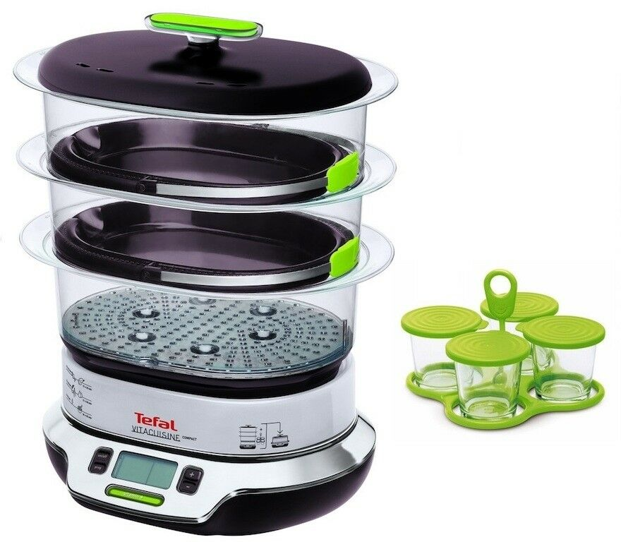 tefal vitacuisine compact vs4003 steam cooker steamer 1800w digital timer new ebay. Black Bedroom Furniture Sets. Home Design Ideas